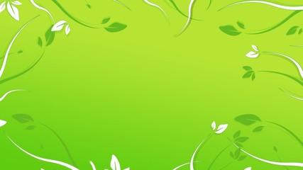 Animation fleurs fond vert dégradé