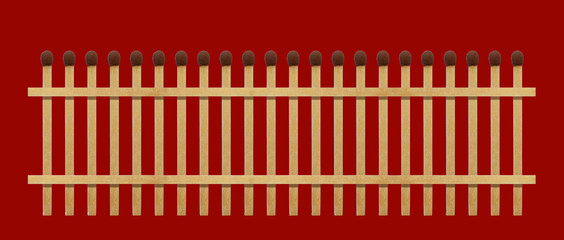 Fence from matches