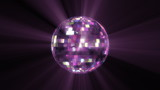 3d photorealistic disco ball. Fixed size mirrors. Loop.