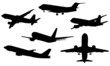 Illustration of airplanes silhouettes