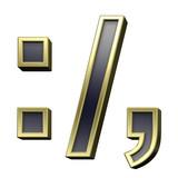 Colon, semicolon, period, comma from black alphabet set poster