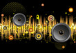urban music scene - Speakers and sound waves