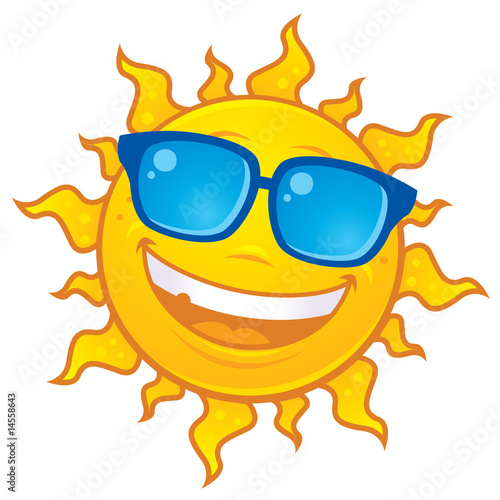 Sun Wearing Sunglasses - 14558643