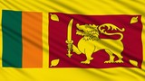 Sri Lanka Flag, with real structure of a fabric poster