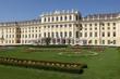 Sunny day in Schonbrunn Palace. Vienna, Austria