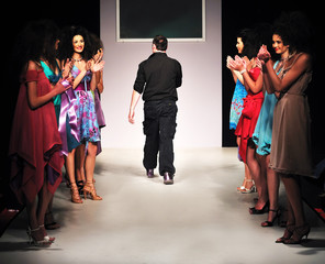 young fashion designer on the stage