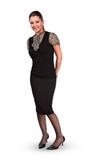 Full-length standing businesswoman poster
