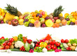 Leinwanddruck Bild - Fruit and vegetable textures