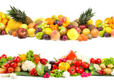 Fototapety Fruit and vegetable textures