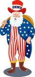 Santa  dressed as Uncle Sam poster