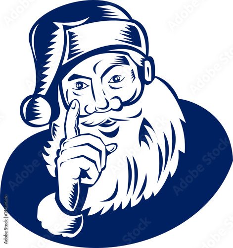Santa pointing a finger at you