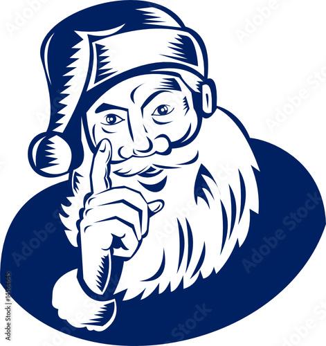 Santa pointing a finger at you