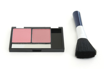 Blush Makeup with Brush