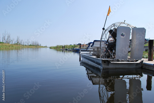 Airboat  on Tranquil Waters - 14565097
