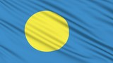 Palau Flag icon, with real structure of a fabric poster