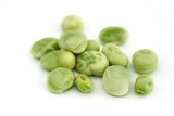 Broad beans (fava beans) isolated over white background