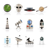 Astronautics and Space Icons - Vector Icon Set 2