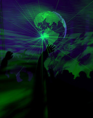 laser light world disco club