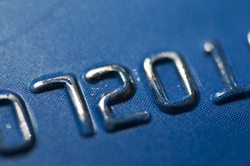 Close up of credit card account number