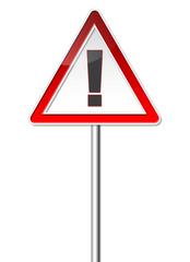 Achtung! Verkehrszeichen