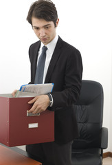 fired businessman portrait