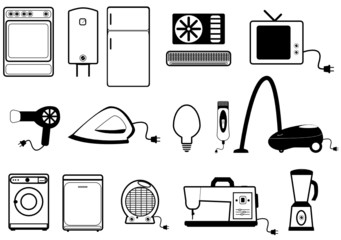 Illustration of home appliances
