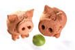 green pea with pigs