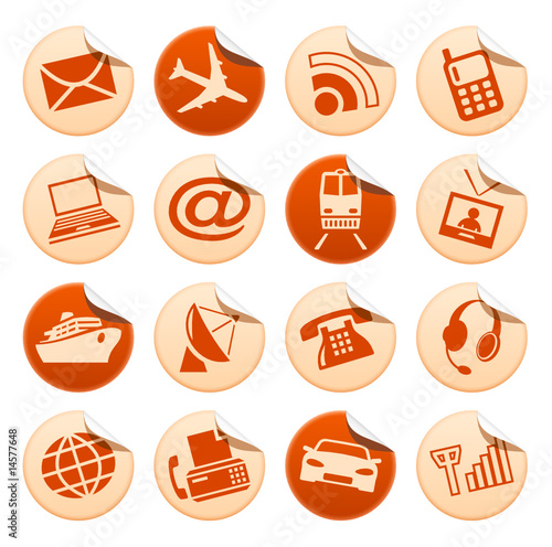 Telecom & transport stickers