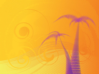 Tropical stylish background