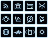 Media & Communications  - Vector Icons Set poster