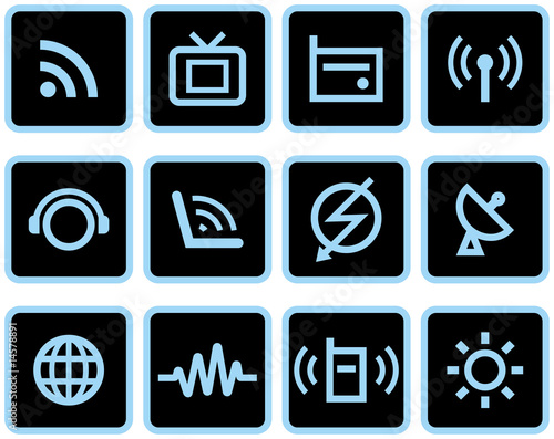 poster of Media & Communications  - Vector Icons Set