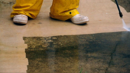 Pressure cleaning - time lapse