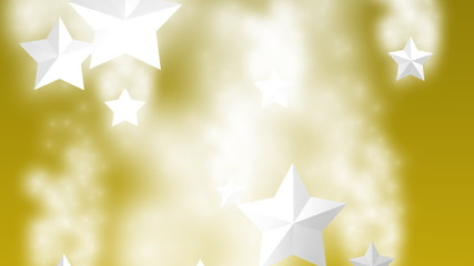 gold merry christmas stars