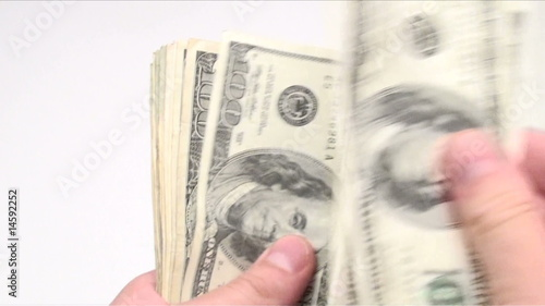 Counting money seamless loop - HD