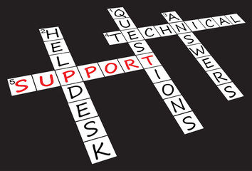 """Support"" Crossword Puzzle"