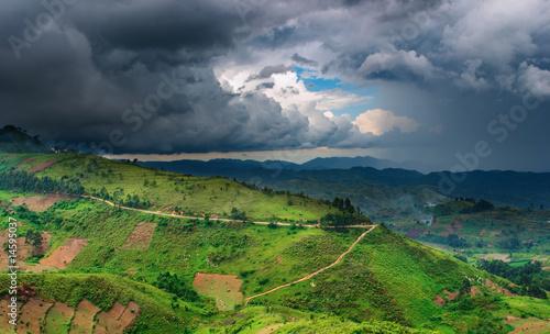 African landscape, rainy season - 14595037