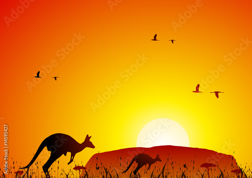 Leinwandbild Motiv Australian landscape