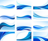 Set of abstract backgrounds vector
