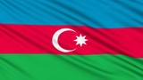 Azerbaijan Flag, with real structure of a fabric poster