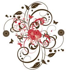 arabesque cercles rouges