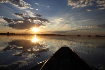 Sun setting over the Delta