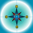 Colorful compass