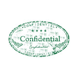 Confidential rubber stamp poster