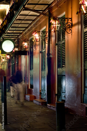 Bars at night in French Quarter, New Orleans