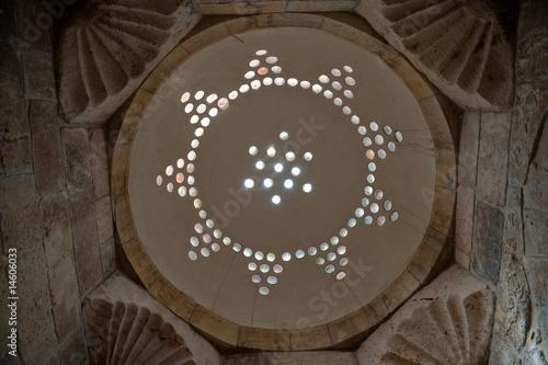 Light dome of hammam in the citadel of Aleppo, Syria - 14606033