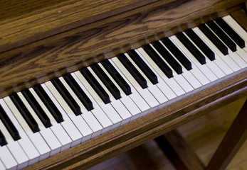 Upright Piano Keys