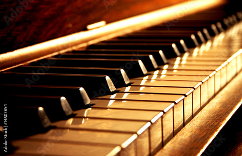 Golden Piano Keys - 14607654