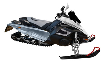 ski doo snowmobile isolated