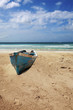 Old boat on beach of Punta Cana, Dominican Republic