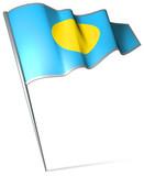 Flag pin - Palau poster